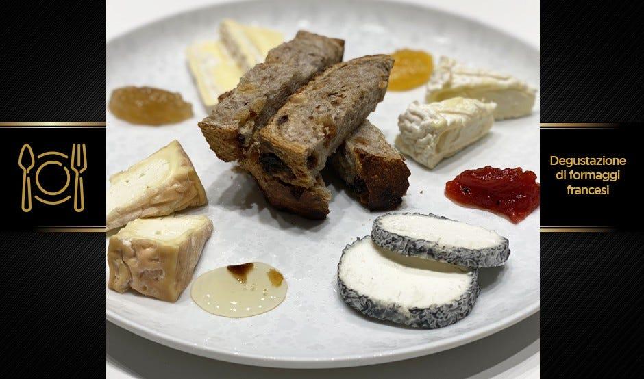Degustazione di formaggi francesi